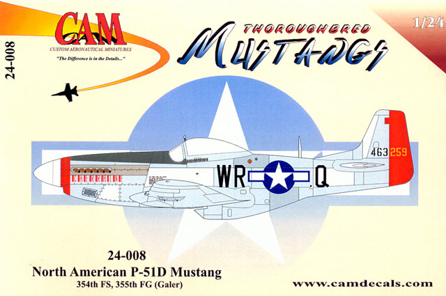 P-51D Mustang Decal Review by Rodger Kelly (CAM Decals 1/24)