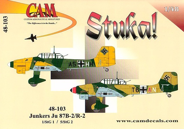 junkers ju 87b decal review by rob baumgartner  cam 1  48