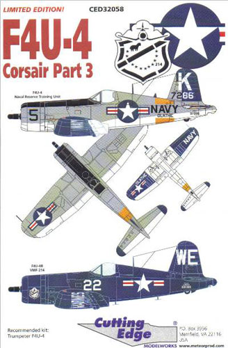 The Edge At Olathe >> F4U-4 Corsair Part 3 Decal Review by Rafe Morrissey ...