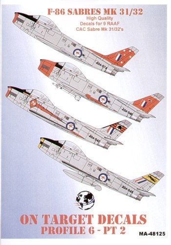 F 86 Sabres Mk 31 32 Decal Review By Brett Green Aviation