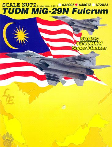 Original colour slide MiG-29N Fulcrum M43-03 spcl of 17 Sqdn Royal Malaysian AF