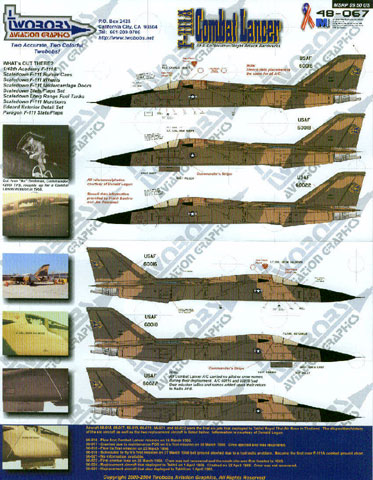 111A Combat Lancer Aardvarks Decal Review by Mike Reeves (TwoBobs ...